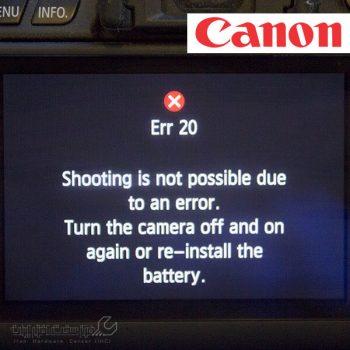 ارور های دوربین کانن