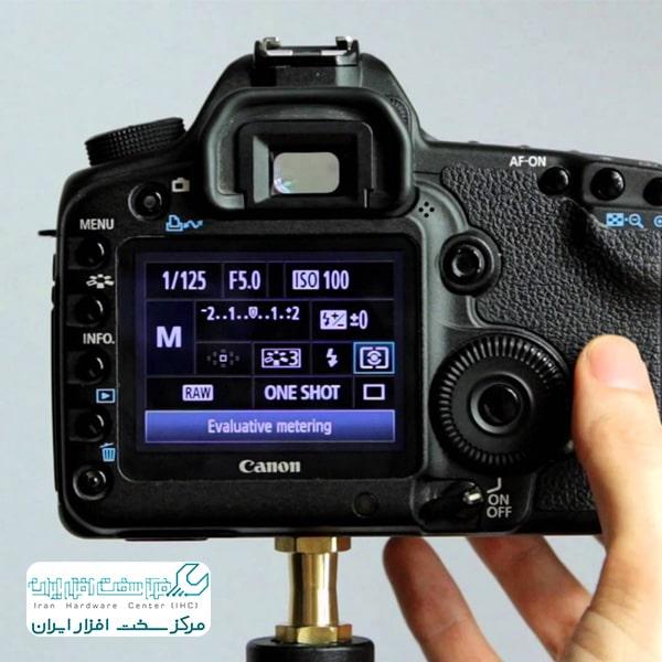 تنظیمات عکس دوربین کانن