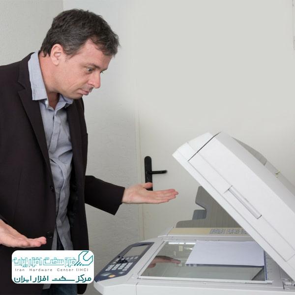 چسبیدن کاغذها در دستگاه کپی کانن